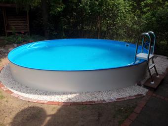 Beautiful Pool Halb Eingelassen Contemporary - Thehammondreport.com ...